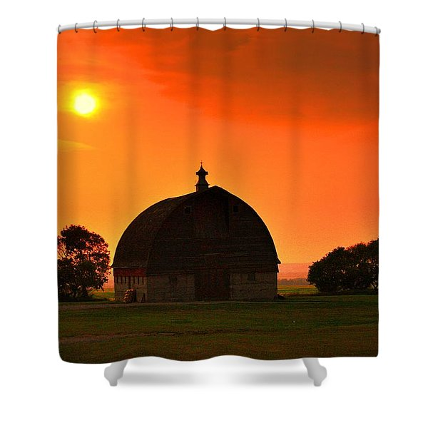 Harvest Sunset  Shower Curtain