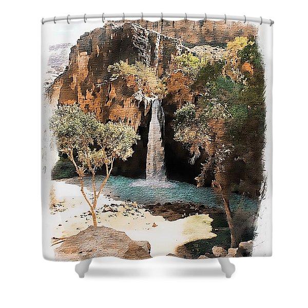 Havasu Falls - Havasupai Indian Reservation Shower Curtain