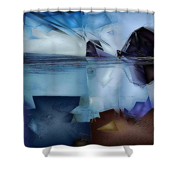 Haystack In The Distance Shower Curtain