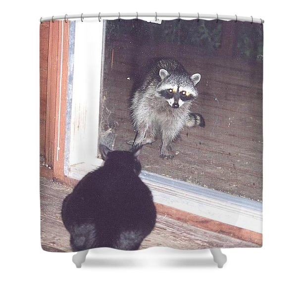 Shower Curtain featuring the photograph Hello There by Cynthia Marcopulos