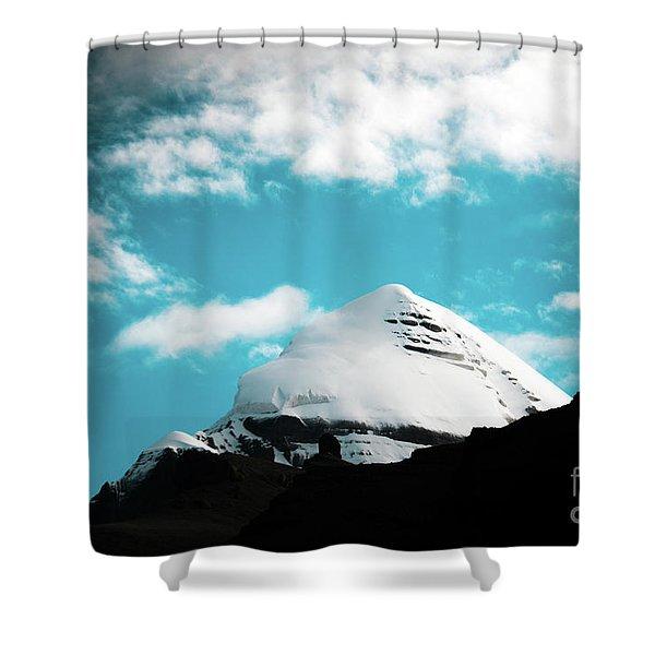 Shower Curtain featuring the photograph Holy Kailas Himalayas Mountain Tibet Yantra.lv by Raimond Klavins