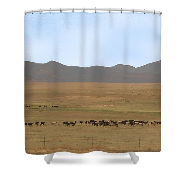 Shower Curtain featuring the photograph Home On The Range by Charles Robinson