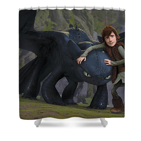 How To Train Your Dragon Shower Curtain