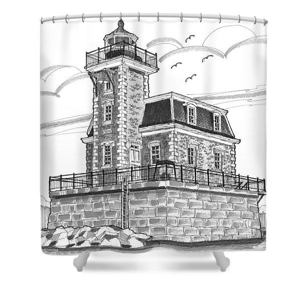 Hudson-athens Lighthouse Shower Curtain
