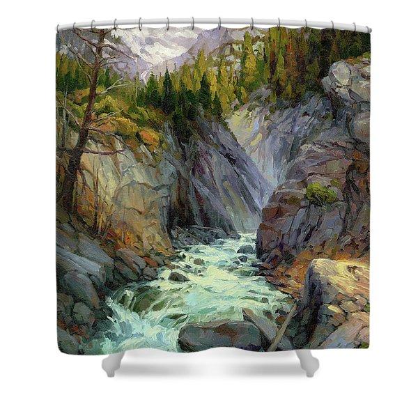 Hurricane River Shower Curtain