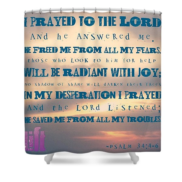 I Will Praise The Lord At All Times.  I Shower Curtain