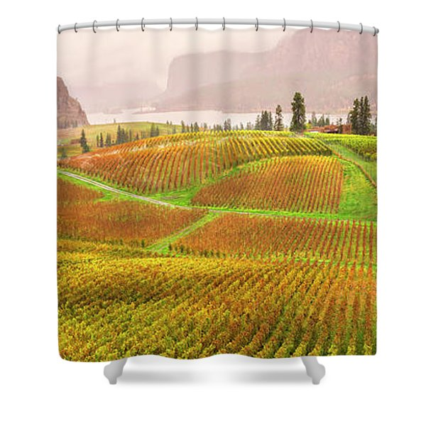 In The Early Morning Rain Shower Curtain