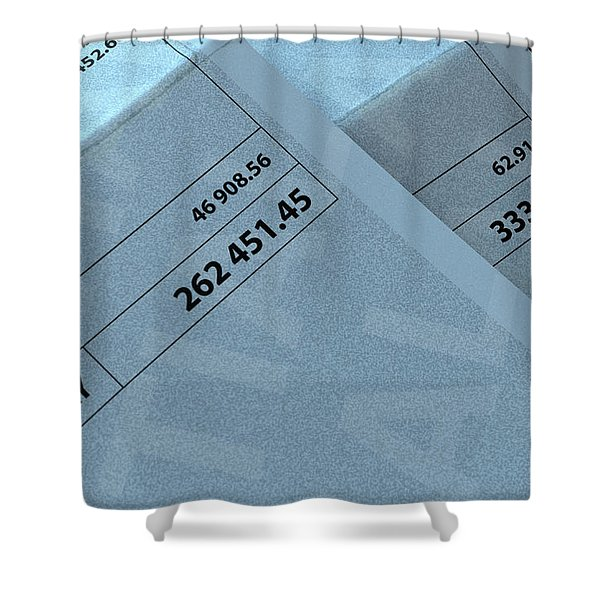 Income Inequality Paychecks Shower Curtain