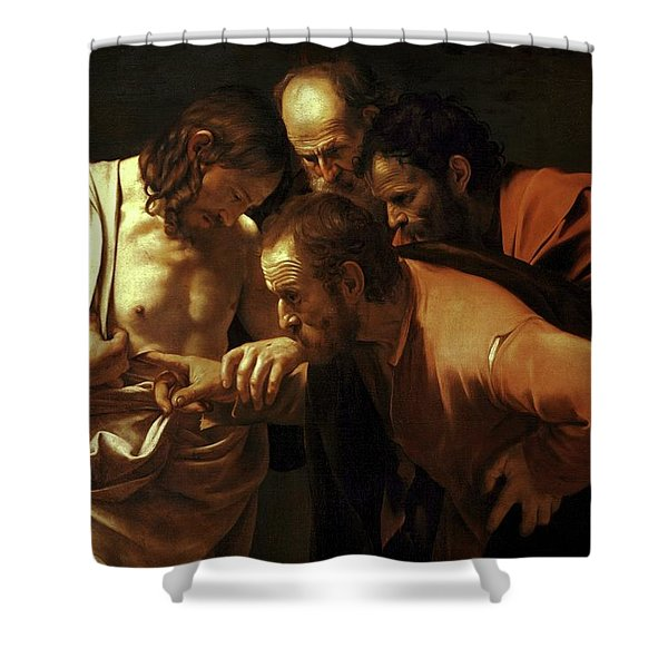 Incredulity Of Saint Thomas Shower Curtain