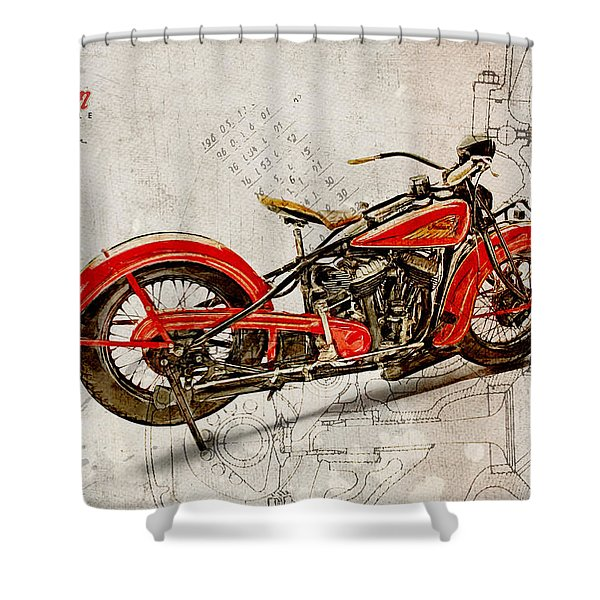 Indian Chief 1935 Shower Curtain