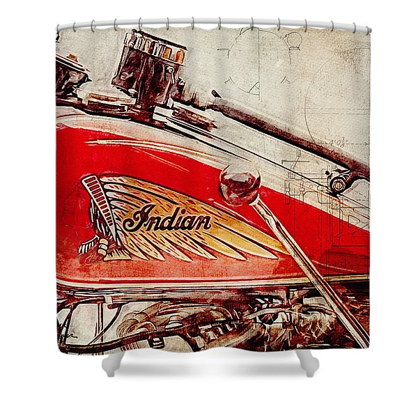 Indian Motorcycle Shower Curtain