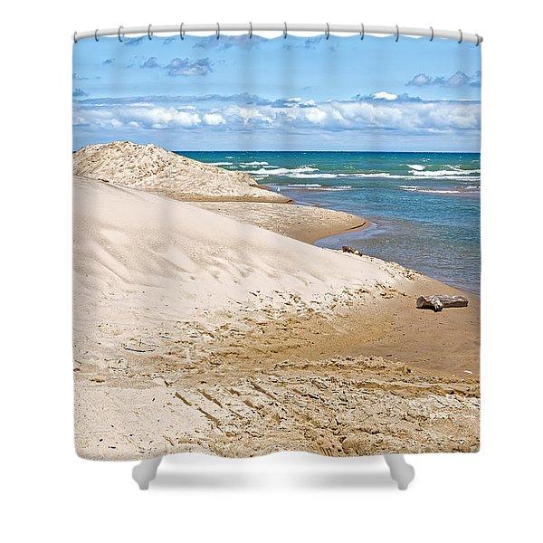 Indiana Sand Dunes On Lake Michigan's Shoreline Shower Curtain