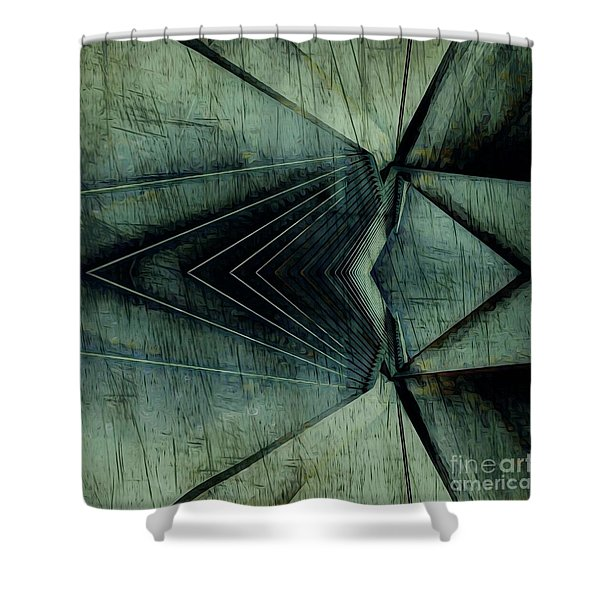 Industrial Bridge Grey Shower Curtain