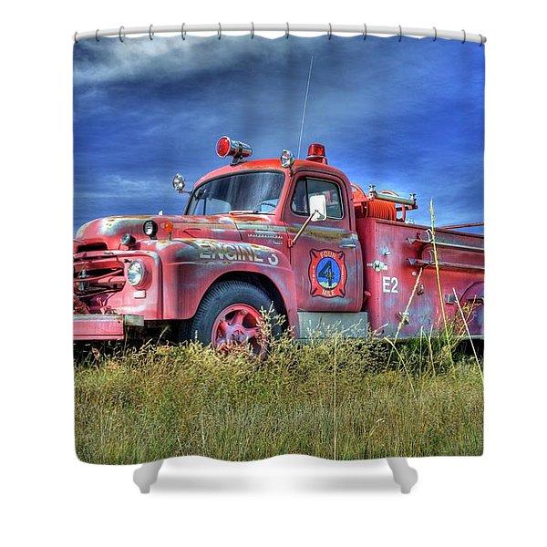 International Fire Truck 2 Shower Curtain