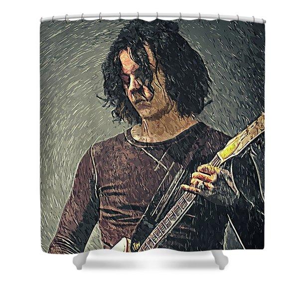 Jack White Shower Curtain