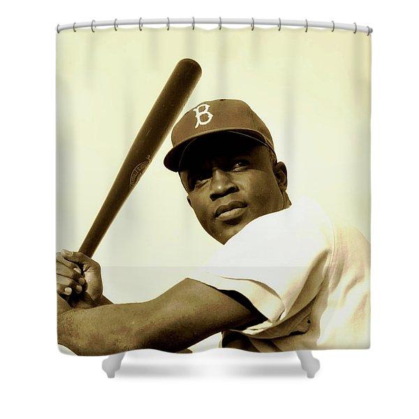 Jackie Robinson 1952 Shower Curtain