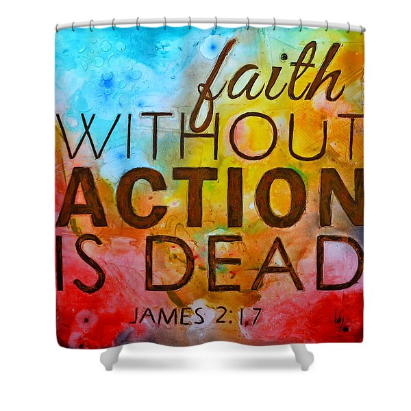 James 2 17 Shower Curtain
