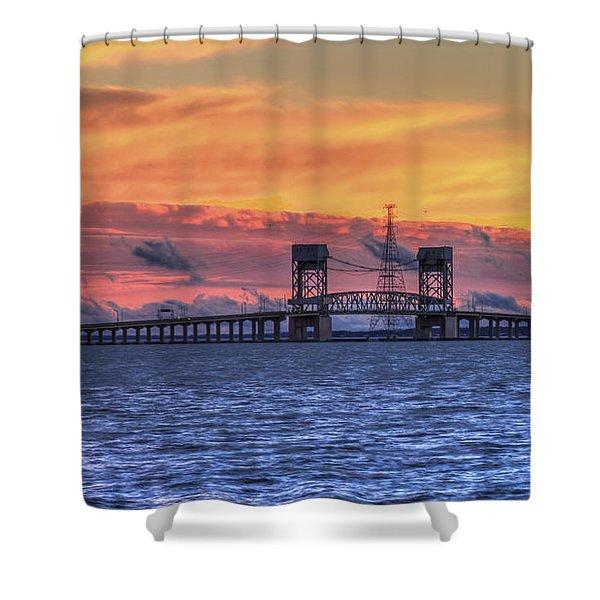 James River Bridge Shower Curtain