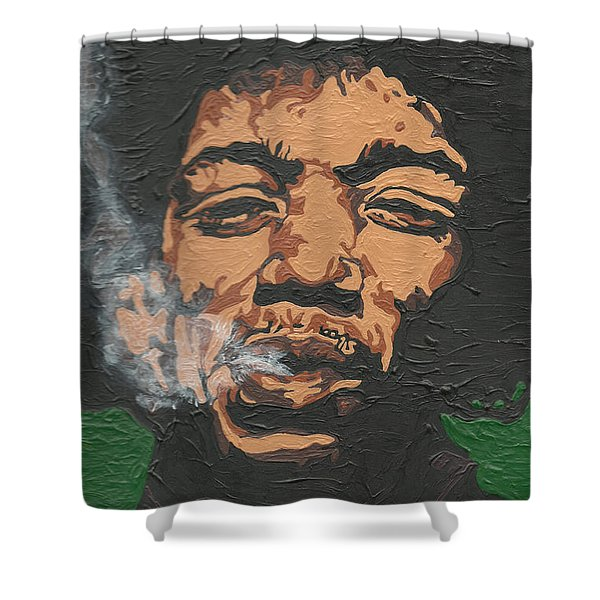 Jimi Hendrix Shower Curtain
