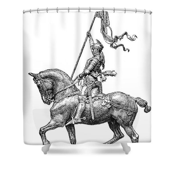 Joan Of Arc, French National Heroine Shower Curtain