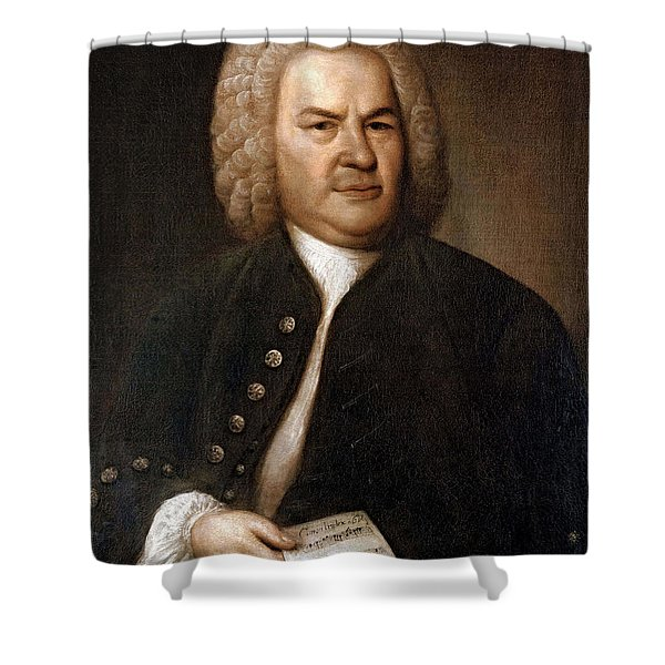 Johann Sebastian Bach, German Baroque Shower Curtain