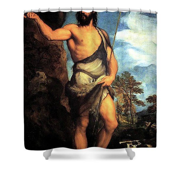 John The Baptist Shower Curtain