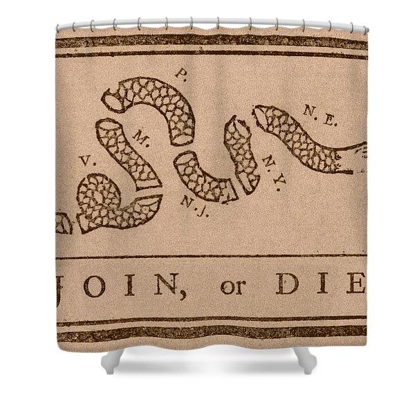 Join Or Die Shower Curtain
