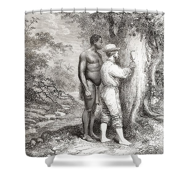 Jules Crevaux, During His Exploration Shower Curtain