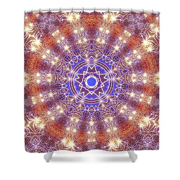 Shower Curtain featuring the digital art Jyoti Ahau 10 by Robert Thalmeier