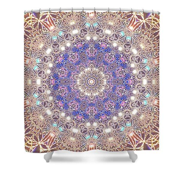 Shower Curtain featuring the digital art Jyoti Ahau 8 by Robert Thalmeier