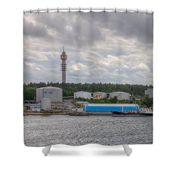 Kaknas Tower Or Kaknastornet Shower Curtain