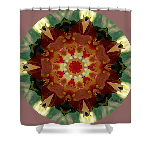 Shower Curtain featuring the digital art Kaleidoscope - Warm And Cool Colors by Deleas Kilgore