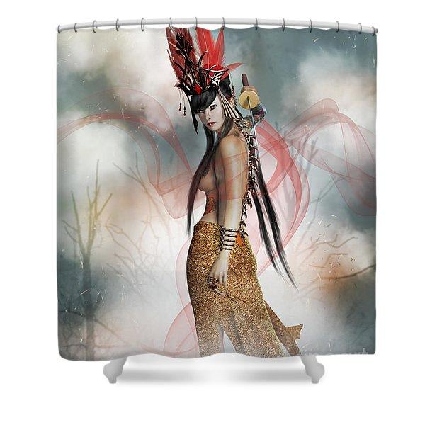 Katana  Shower Curtain