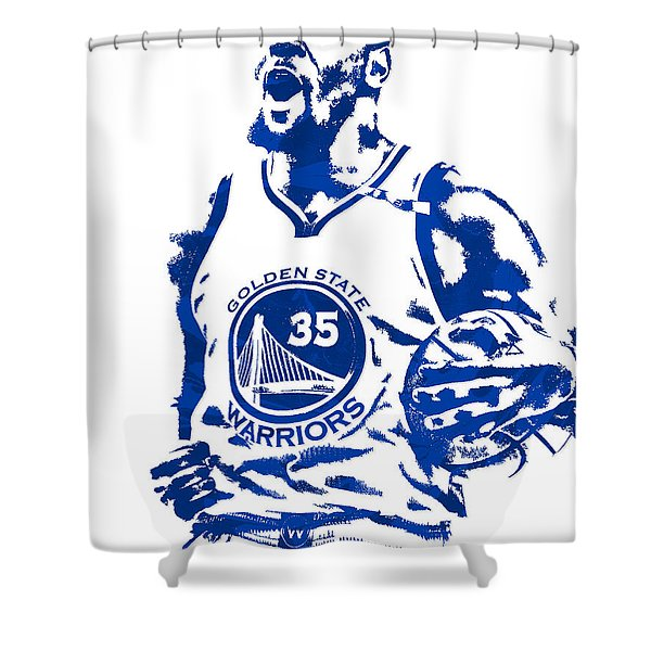 Kevin Durant Golden State Warriors Pixel Art 4 Shower Curtain