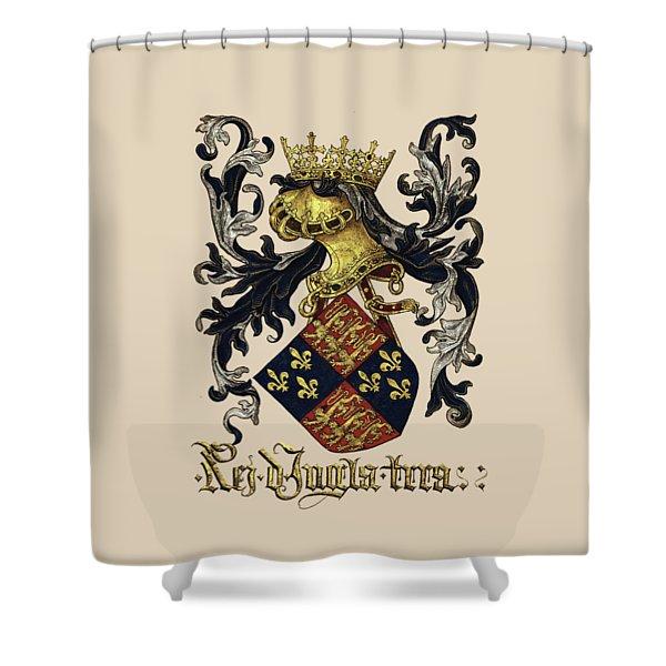 King Of England Coat Of Arms - Livro Do Armeiro-mor Shower Curtain