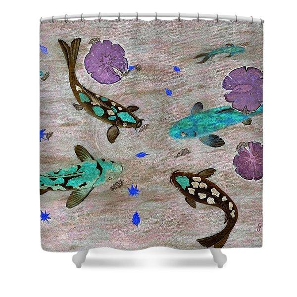 Koi Fish Feng Shui Shower Curtain