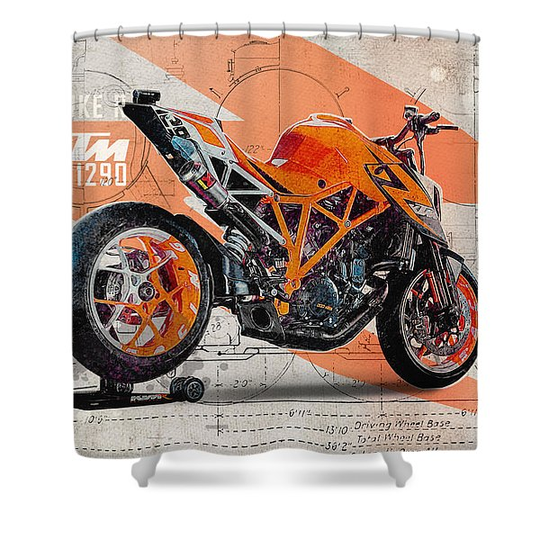 Ktm 1290 Super Duke R Shower Curtain