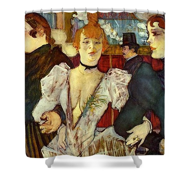 La Goulue Arriving At The Moulin Rouge With Two Women Shower Curtain