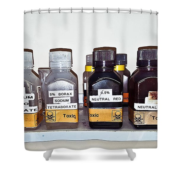 Laboratory Chemicals Shower Curtain