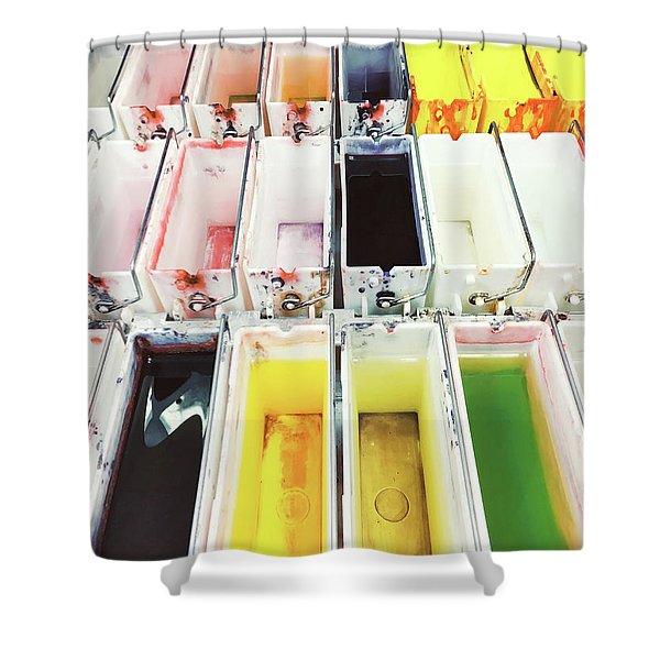 Laboratory Tissue Stains Shower Curtain