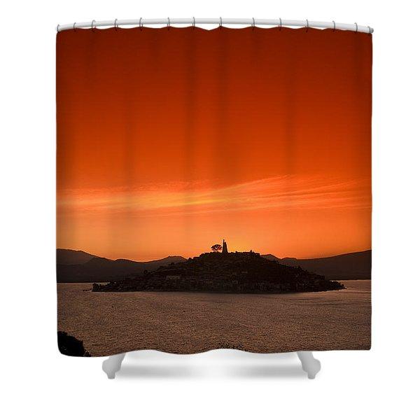 Lake Patzcuaro Shower Curtain