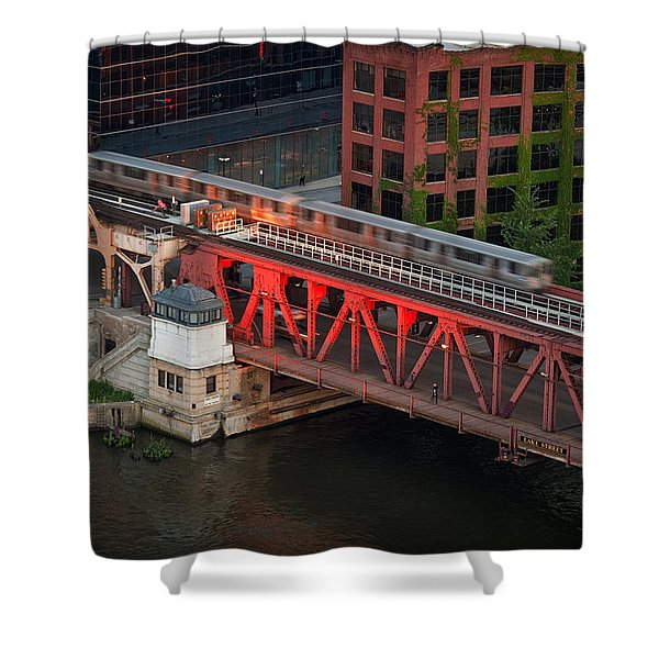 Lake Street Crossing Chicago River Shower Curtain