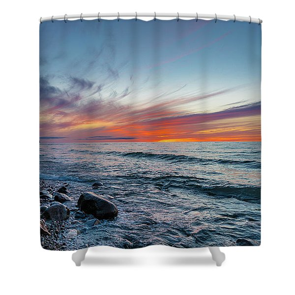 Lake Superior Sunset Shower Curtain