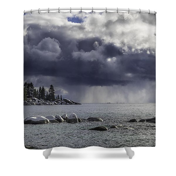 Lake Tahoe Storm Shower Curtain