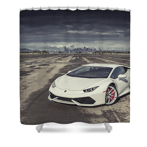 Lamborghini Huracan Shower Curtain
