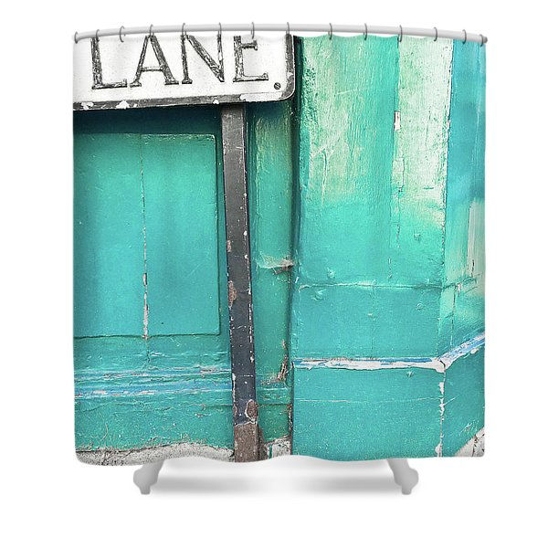 Lane Sign Shower Curtain
