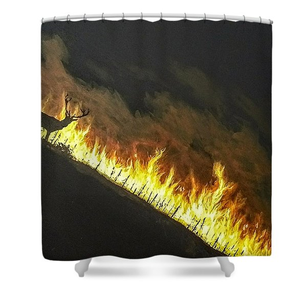Shower Curtain featuring the painting Last Look Back Home by Kevin Daly