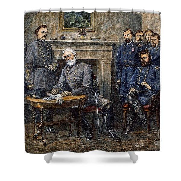 Lees Surrender, 1865 Shower Curtain