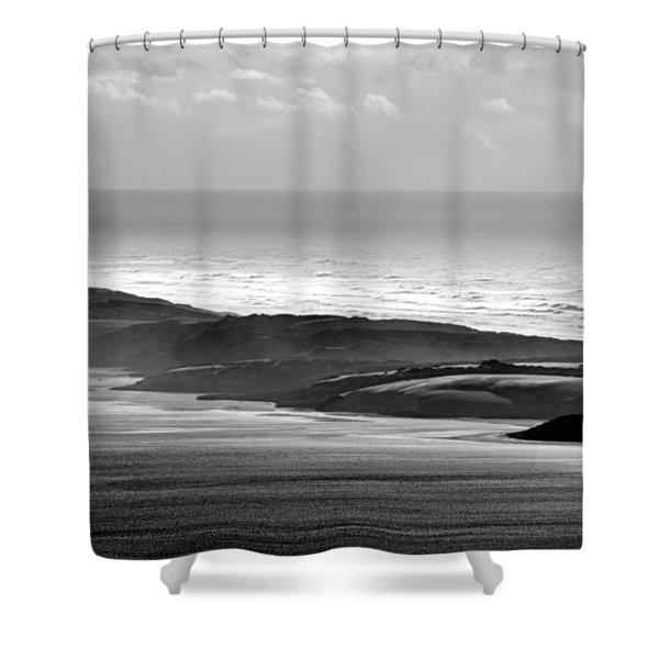 Light On The Dunes Shower Curtain