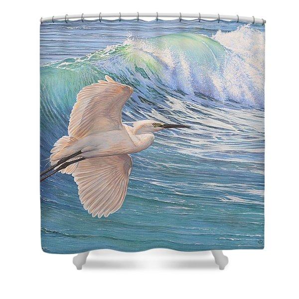 Little Egret Shower Curtain